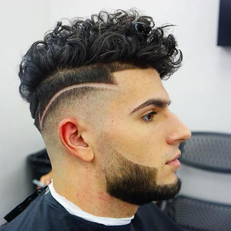 Curly Hairtyle for Men, Fade Hairtyles Haircuts Hair