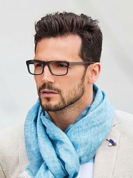 Short Beard and Hair with Glasses, Jamie Downey Face Short