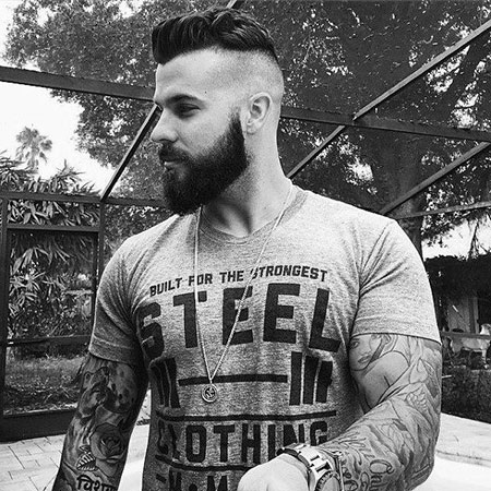 Cool Hair Cut, Beard Undercut 40 Long