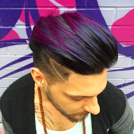 Purple Hair Highlights, Hair Undercut Styles Hairtyles