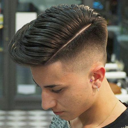 Hair Fade Short Pompadour