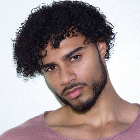 Loose Curls for Men, Curly Hair Curls Black
