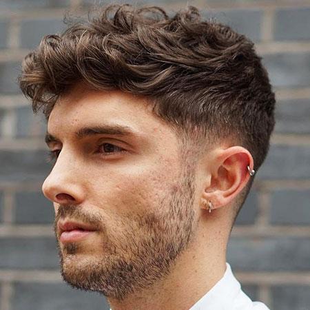 Short Sides, Thick Wavy Haircuts Fade