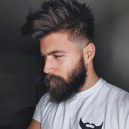 Hairtyle and Full Beard Look, Beard Chris Jamie Look