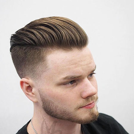 Slicked Back, Classic Undercut Fade Hairtyles