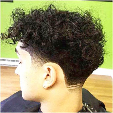 Shaved Nape, Mens Curly Hairtyles Type
