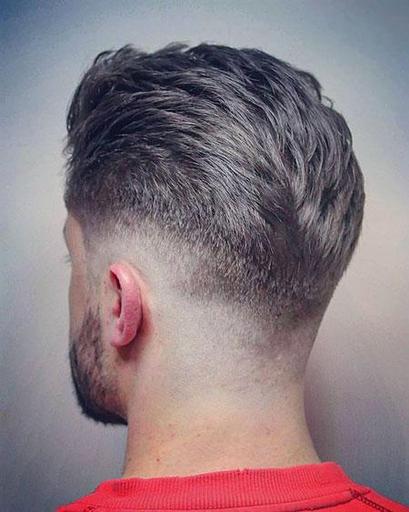 Back View, Fade Pixie Choppy Hair
