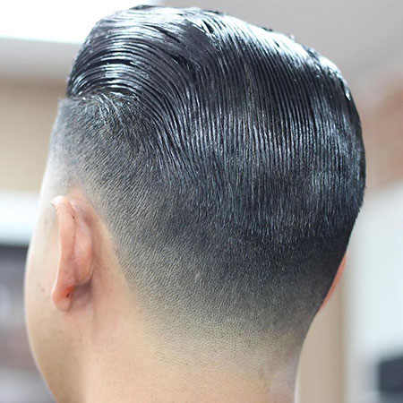 Hair Taper Slicked Fade