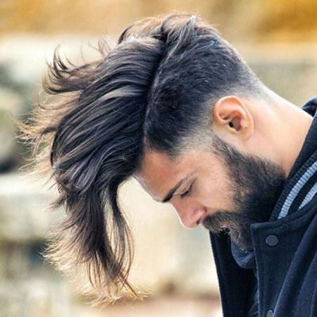 Undercut Hair Long Gray