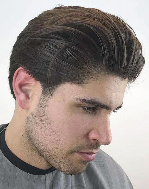 Short Slicked Back Hair Mens