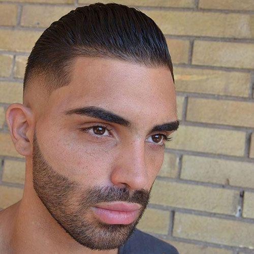 Mens Short Slicked Back Hair