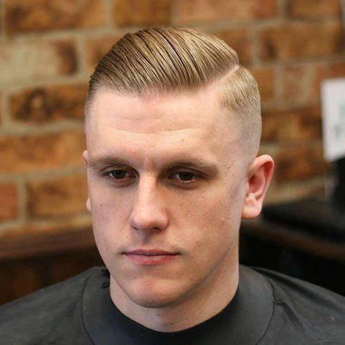 Short Hair Slicked Back Mens