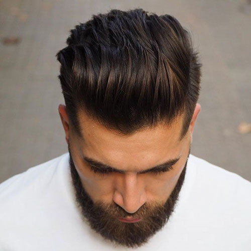 Mens Haircuts Slicked Back