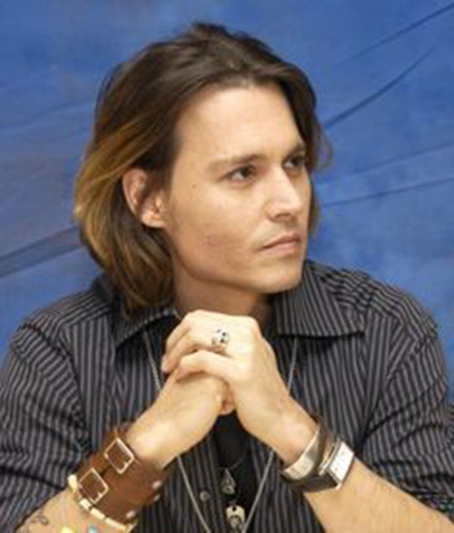 Long Hair Johnny Depp